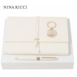 Zestaw Nina Ricci: notes + długopis + brelok