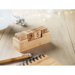 Bambusowy kalendarz biurkowy