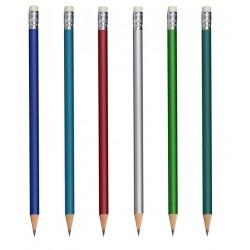 Ołówek drewniany metaliczny z gumką
