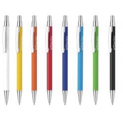 Aluminiowy długopis z gumowym wykończeniem