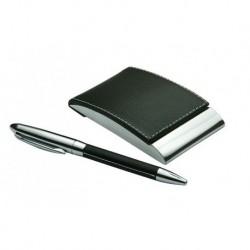Komplet upominkowy - wizytownik, długopis