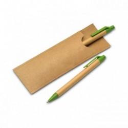 Komplet piśmienny z papierowym korpusem