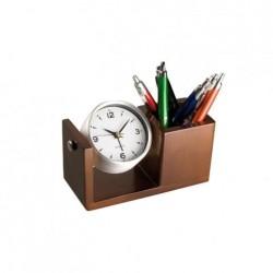 Przybornik biurkowy z zegarkiem