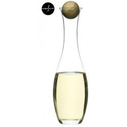 Oval oak karafka do wody/wina z dębowym korkiem