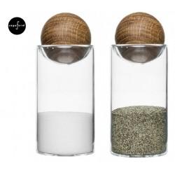 Oval oak zestaw do soli/pieprzu
