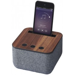 Materiałowo-drewniany głośnik Bluetooth®,